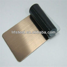 Decorative Rose Gold Hairline Stainless Steel Sheet