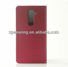 Mobile phone credit card leather case for LG G2 D802