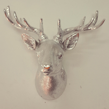 new design polyresin crafts deer head home decorative coat wall hanging hook