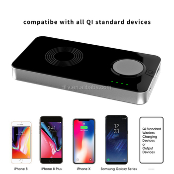 2 in 1 multi-function rechargeable wireless mobile phone charger