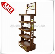 New design wooden doll stand antique wood display