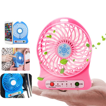 Hot Sale Portable Rechargeable LED Fan air Cooler Mini Operated Desk USB 18650 Battery