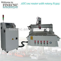 4D woodworking router cnc router machine wth SYNTEC system F1325ATC