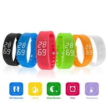 2017 New Products Led Watch Instructions Colorful Sports Led Bracelet Simple Design Touch Silicone Watch