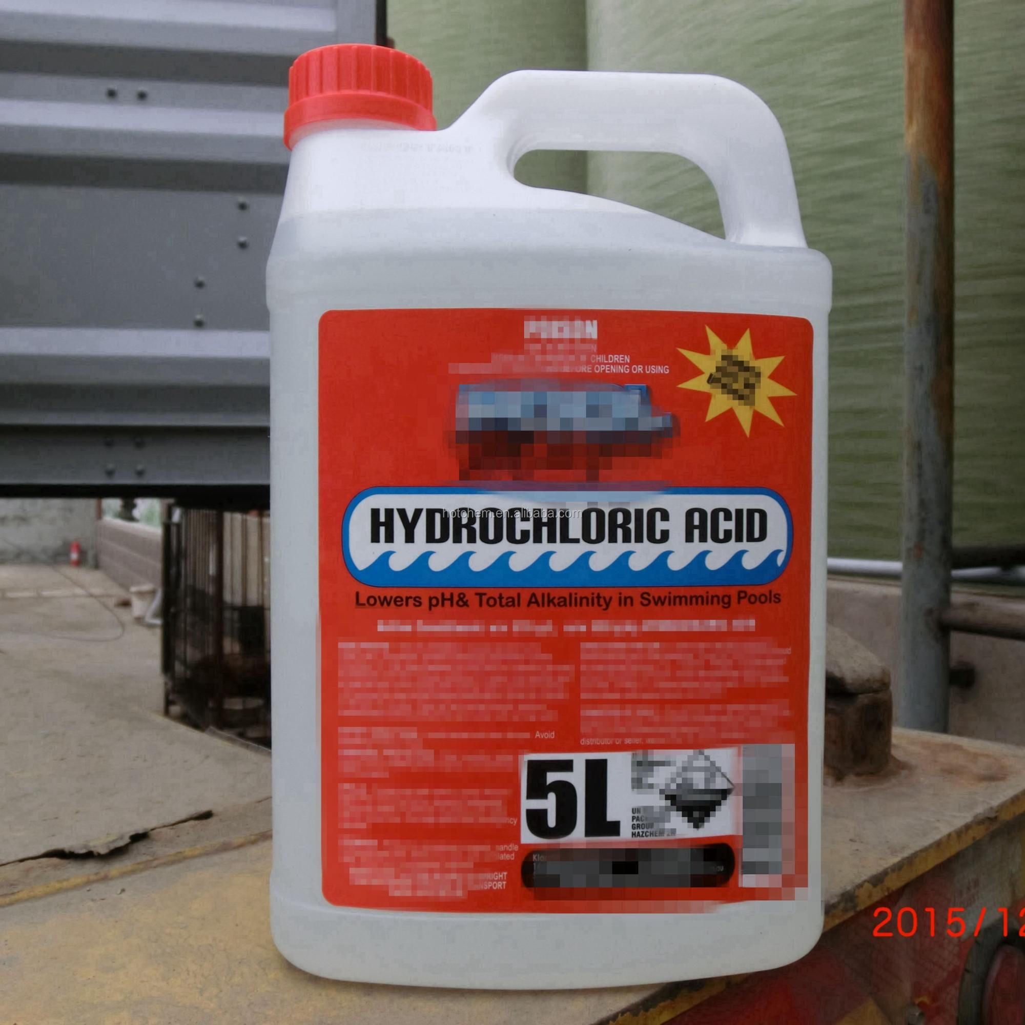 Swimming pool chemical Hydrochloric Acid