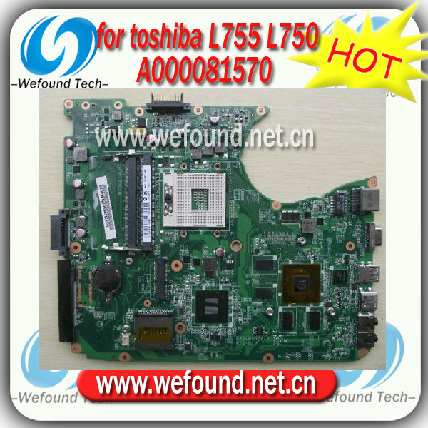 Hot! For Toshiba laptop motherboard L755 L750 A000081570