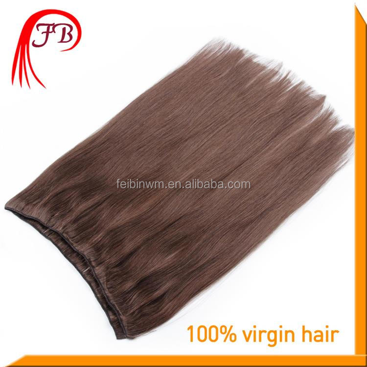6A 100% Human Virgin Straight Hair Weft Color #2 European Model Hair Extension Wholesale