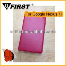 New arrive! Hot sell! leather case for Googel Nexus 7 With stents