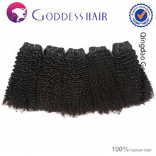 China supplier Mongolian kinky curly hair weave 4a track hair braid