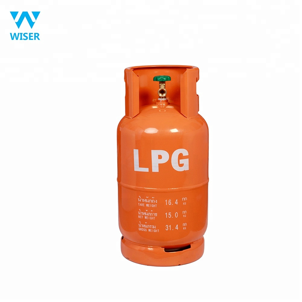 DOT CE ISO4706 15kg 35.5L Cambodia Thailand empty lpg/propane/butane gas <strong>cylinder</strong>/tank/bottle for restaurant industrial kitchen