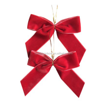 5 inch red Christmas gift velvet bows for decoration