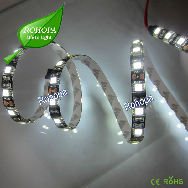 perfect lighting effect black pcb led strip 5050 wateproof 14.4w dimmable led tape light strip