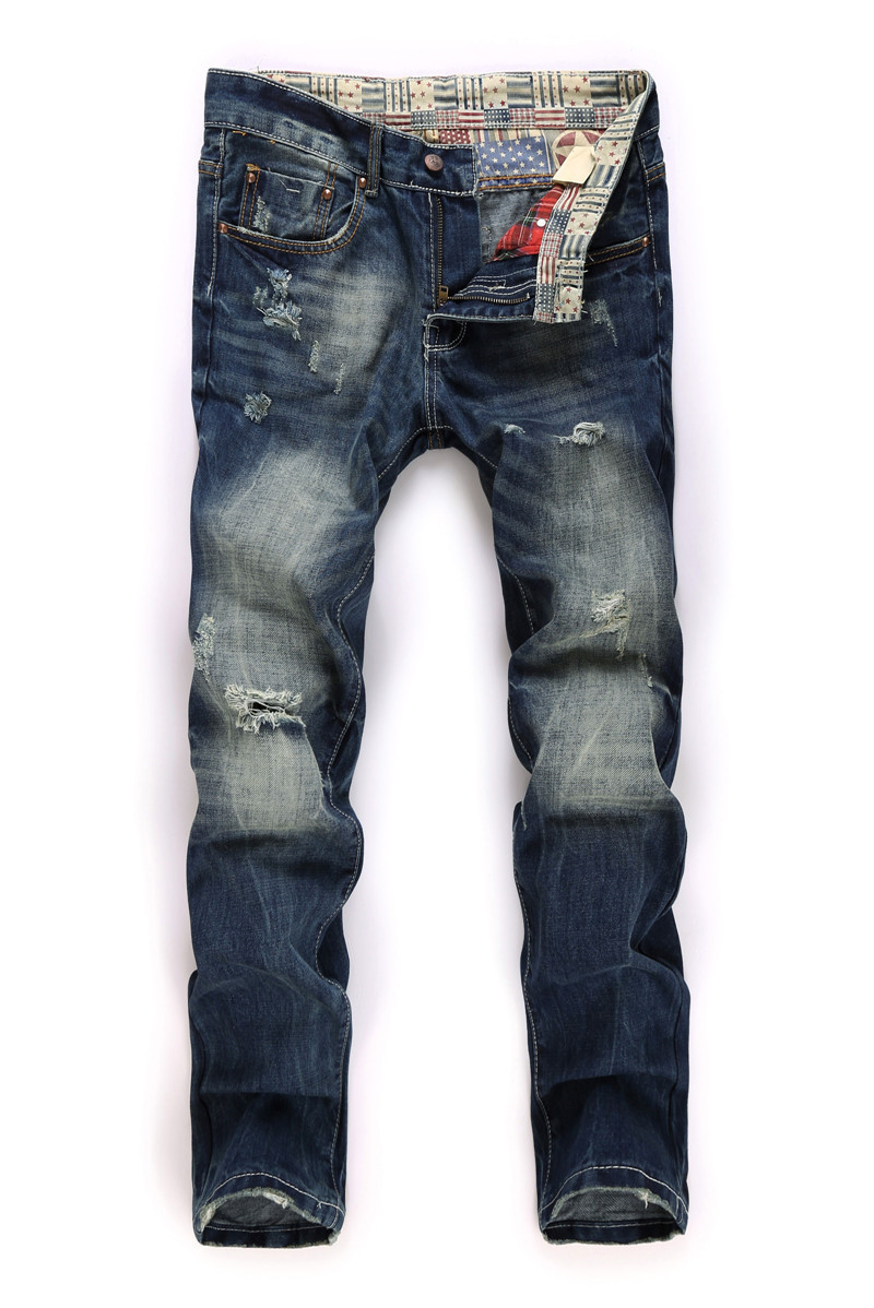 Distressed Jeans Mens Blue Jeans 2015 New Brand BIEPA Brand Destroyed Skinny Jeans Men Distressed Jeans 17gjmst938