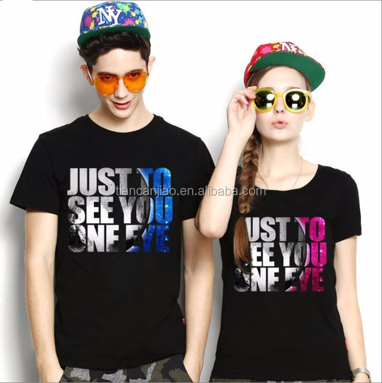 very nice design sweet family high quality new fashion style couple lover t shirt
