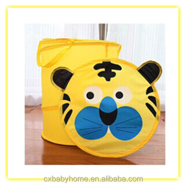 Cartoon animal kids collapsible laundry basket