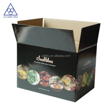 Waxed cardboard boxes for frozen fish and food