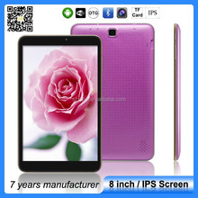 ZXS-8-W IPS SCREEN 1280*800 Android 4.4 tablet oems;Wholesale tablet a33; super touch pad tablet factory