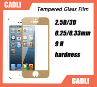 Factory Supply 9H hardness Color Tempered glass screen protector For iphone5