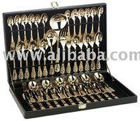 Sterlingcraft 51 Pc Gold Plated Flatware