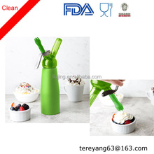 Professional Aluminum Whipped Cream Dispenser W/ 3 Decorating Nozzles - Uses Standard N20 Charger