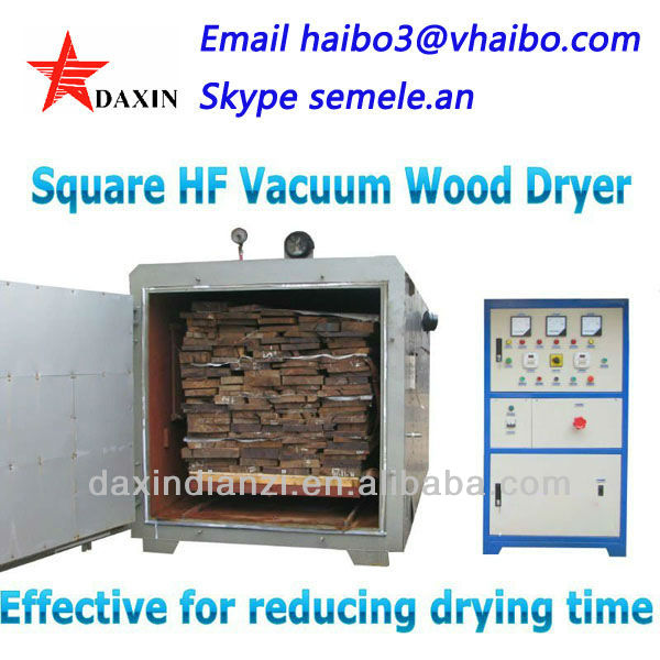High tech and high frequency vacuum wood dryer