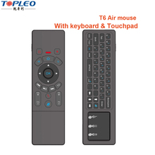 Excellent quality T6 2.4GHz RF lithium battery USB wifi TV universal gaming remote controller