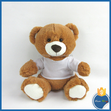 Sublimation Products 20cm Bear with T-shirt plush toy kid gift sublimation soft toy