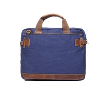 YD-2053 Men Vintage Canvas Shoulder Briefcase Free Sample Messenger Laptop Computer Bag For Apple