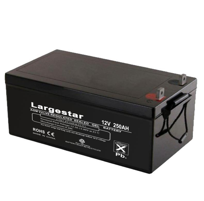 High powerful 12v 250AH AGM solar gel battery for cheap price