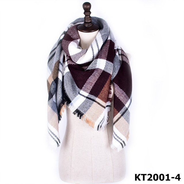 2016 Hot selling fashion style square fringe blanket scarf