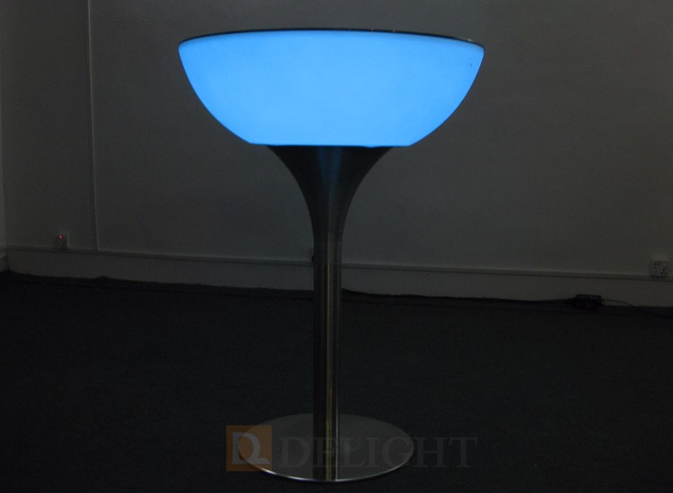 Night club waterproof led illuminated cocktail table/led table/led table cocktail lounge