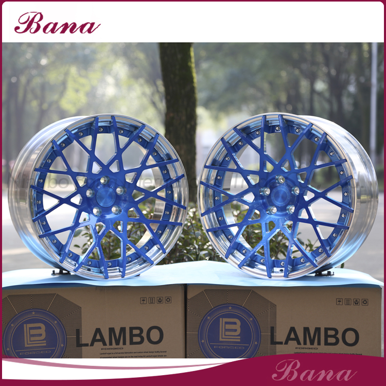 High quality popular design for cars blue Forged wheels alloy wheel rim