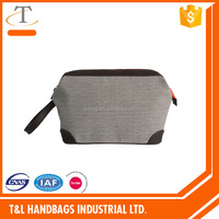 Durable men wash bag with metal frame