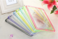 Transparent Cover PC+TPU Colorful Case for ipad mini 2/ipad mini retina Protector Frame Matte Back Cover