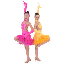 B000002 High quality tassel sexy children kids latin dance dress for girls dancing performance costumes on sale