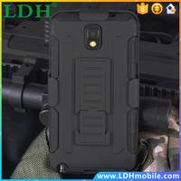 200pcs/lot Dual Layer Future Armor Robot Case Rugged Impact Belt Clip Combo Case For Samsung Galaxy Note 4 N9100 Cover Back