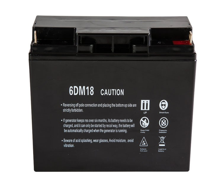 12V 18Ah Dry Cell Rechargeable Battery For Generator