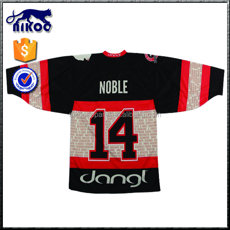 high quality custom made unique ice hockey jersey
