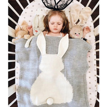 Wholesale Fashion Rabbit Baby Blanket Knitting Baby Blanket