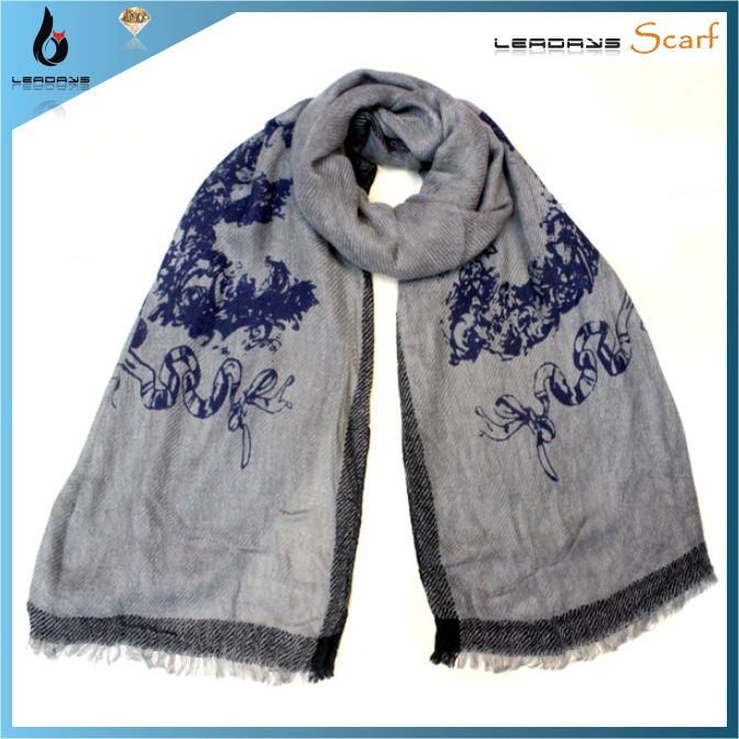 knit print winter pashmina acrylic knitting shawls