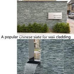 Natural black slate types of exterior wall cladding
