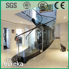 Hot Sale Stainless Steel Stringer Glass Tread Indoor Spiral Stairs