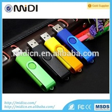 Low Price swivel 2 in 1 USB OTG flash drive 2GB-128GB for Andriod mobile phones