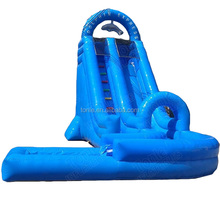 double dip curve dolphin express wild splash inflatable water slide/ waterslide/ wet dry slide with pool