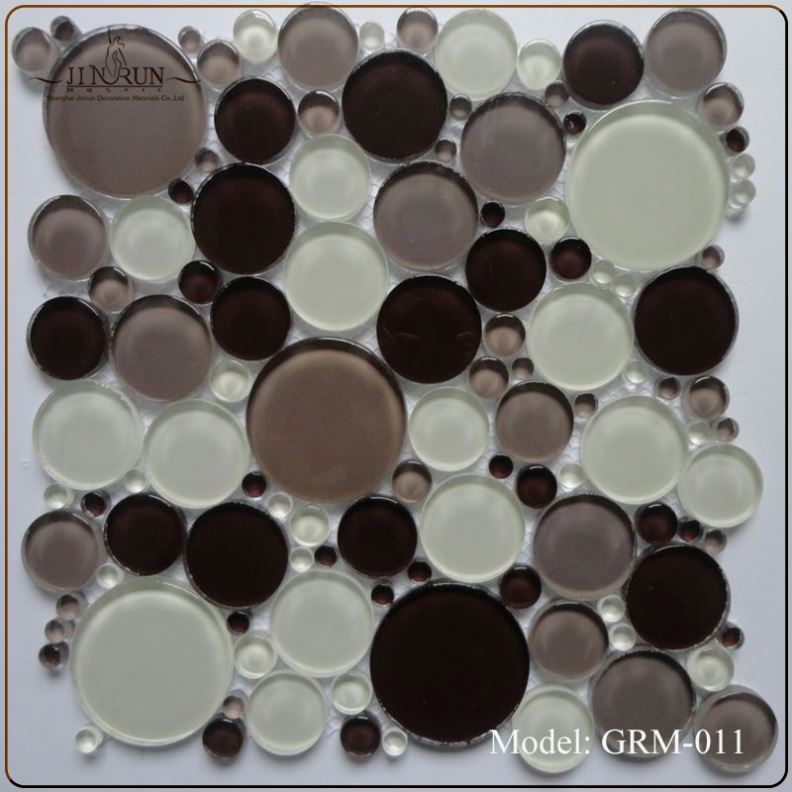 Recycled Glass Mosaic Pebble Tile