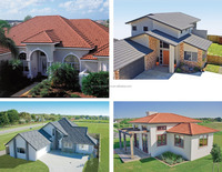 2016 new roman design low price villa building material stone coated metal roof tile /nigeria building roof material