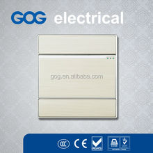 GOG hot selling electric wall power switch 16A 250V metal panel switch