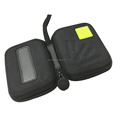 GC- Square shape 600D nylon rubber logo long handle EVA earphone bag