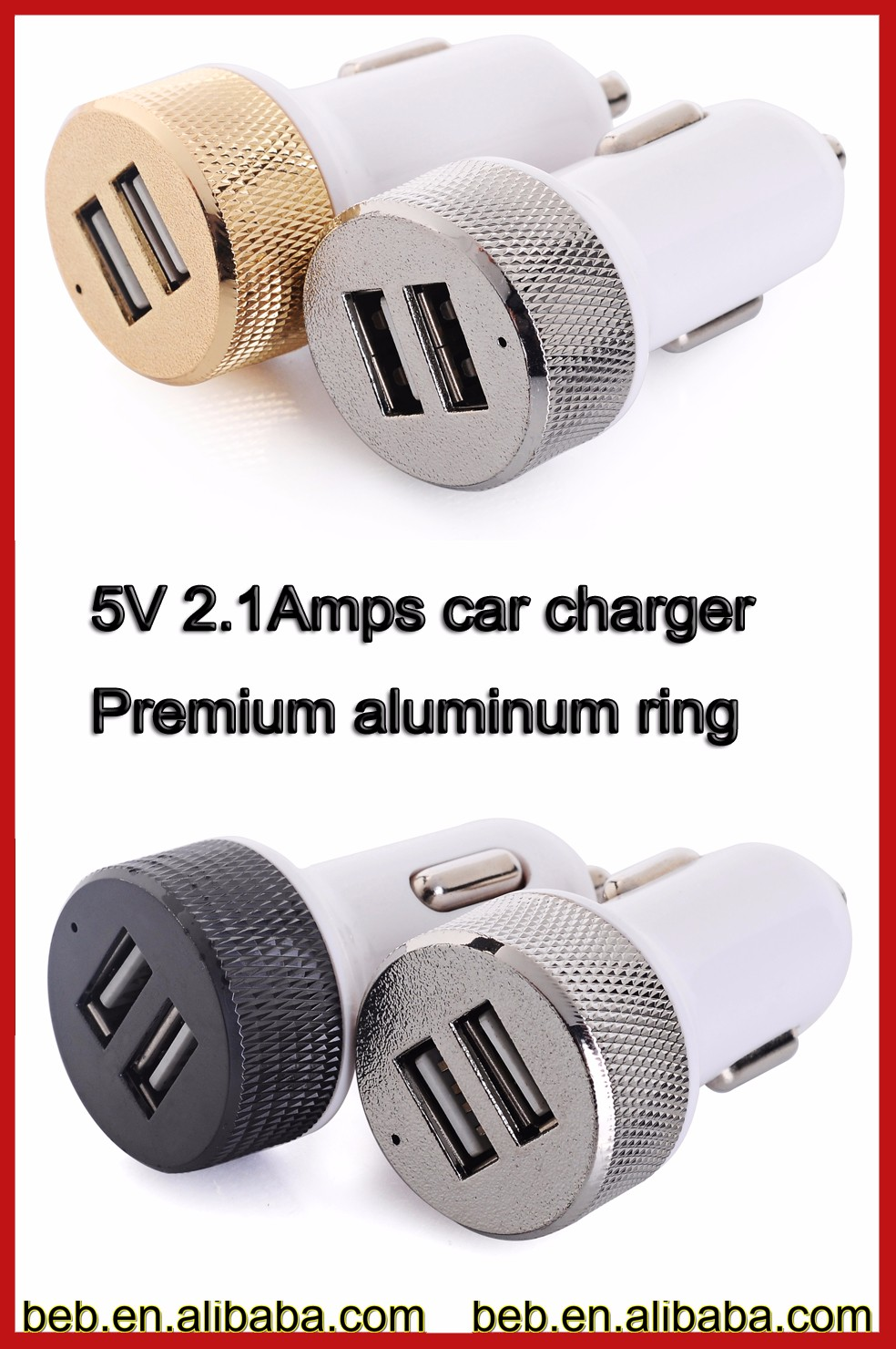For iphone 6s iphone 7 custom usb car charger from reliable factory ce rohs fcc