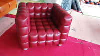 2015 Hot Sale Classic Red PU Leather 1 Seater Sofa(SDXT204)